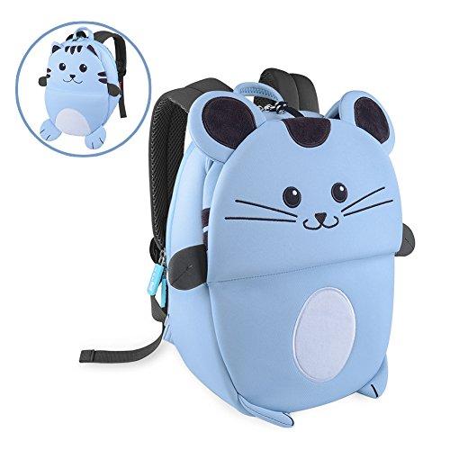 - OFUN Zoo Toddler Kids Backpack, Animal Backpacks for Kids, Small Toddler Backpack (Blue Cat)
