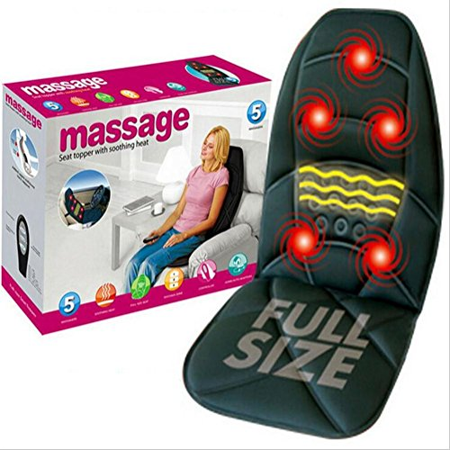 KRISMILEN Cojines de calefacción de coche vibración masaje de múltiples funciones cojines coche hogar masaje colchonetas...