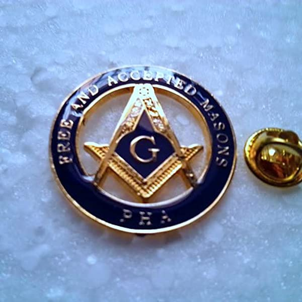 Masonic Master Mason Prince Hall Affiliated Large Lapel Pin