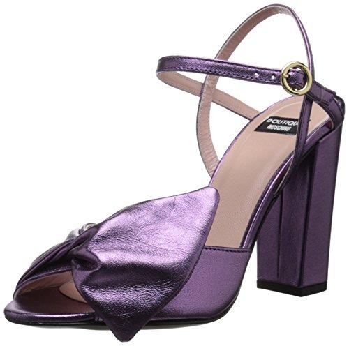 Boutique Moschino Women's Carla Dress Sandal, Purple, 39 EU/9 M US