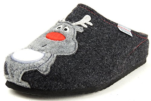 Tofee Anthracite Femme Pour Chaussons Gris 4qwO7a