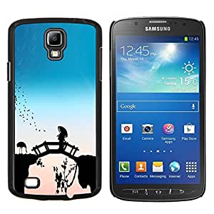 BearCase / Cubierta de protección Caso duro de la contraportada de Shell Plástico /// Samsung Galaxy S4 Active i9295 /// Puente del cuento de hadas de China Flamingos Naturaleza Pájaro