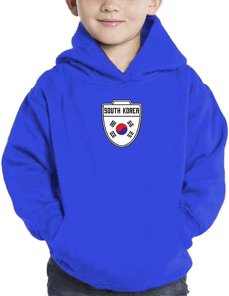 Soccer Hoodie Sweatshirt HAASE UNLIMITED Toddler Little Boy South Korea 5//6, Royal Blue