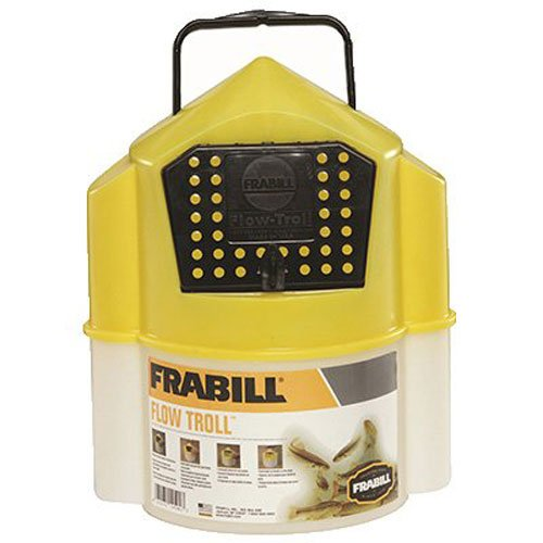 Frabill Flow Troll Bait Container, 6-Quart, Yellow/White