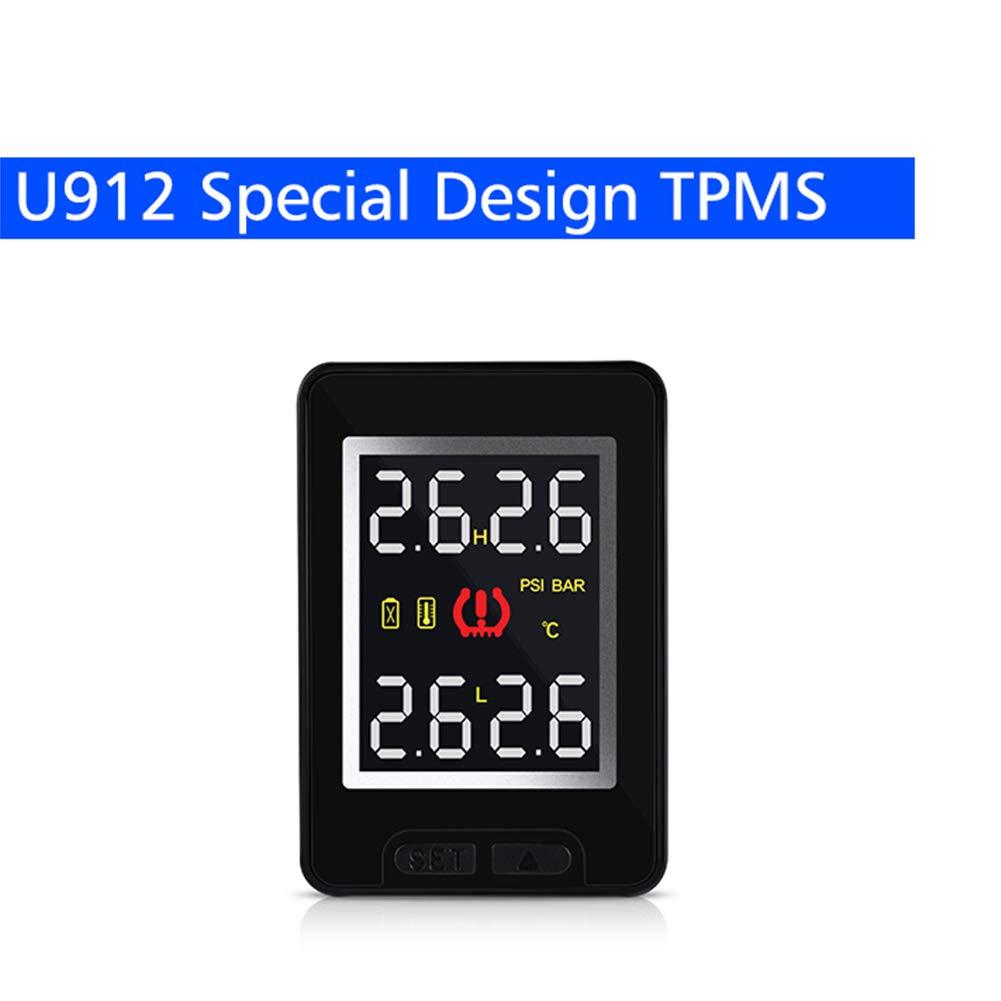 BEESCLOVER Auto TPMS Reifendruckmessgerä t System TPMS Sensor Monitor Wireless Vier TPMS externer interner Sensor U912-WF Externer Sensor