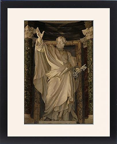 Framed Print of Statue of St Peter, Basilica di San Giovanni in Laterano by Prints Prints Prints