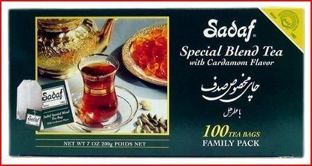- Sadaf 100 Count Special Blnd Tea with Cardamom Flavor,Net WT 7 OZ(200g)