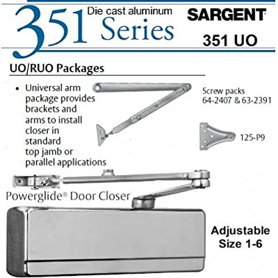 Sargent 351-uo-tb-eb: Universal Arm Door Closer: Aluminum Painted