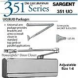 SARGENT 351-UO-TB-EN, UNIVERSAL ARM DOOR CLOSER; ALUMINUM PAINTED