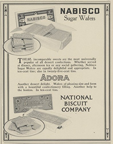 1914-ad-nabisco-cookies-national-biscuit-plate-of-adora-wafers-original-vintage-advertisement