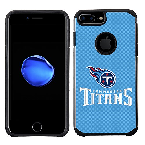 (Prime Brands Group Cell Phone Case for Apple iPhone 8 Plus/iPhone 7 Plus/iPhone 6S Plus/iPhone 6 Plus - NFL Licensed Tennessee Titans Textured Solid Color)