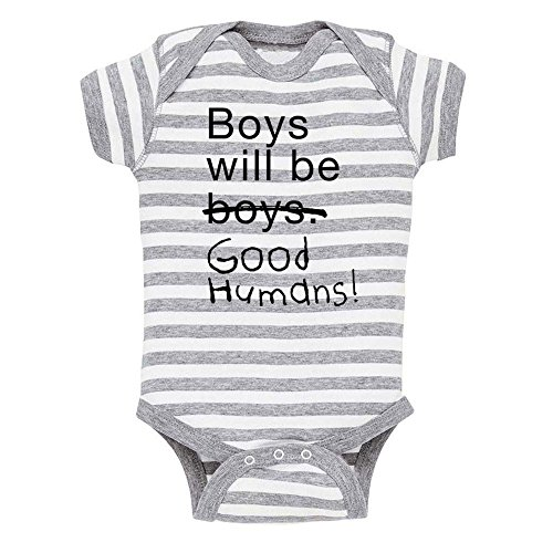 Free to Be Kids Boys Will Be Good Humans (TM) Baby Onesie by Free to Be Kids