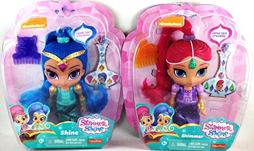 Shimmer and Shine Dolls with Genie Gem Stickers (Set of 2