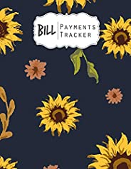 Bill Payments Tracker: Simple Monthly Bill Payments Checklist Organizer Planner Log Book Money Debt Tracker Ke