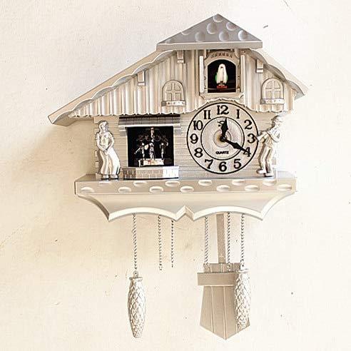 - Fashion Wall Clock Window The Heralds Swing Pocket Watch Modern Brief Cuckoo Clock