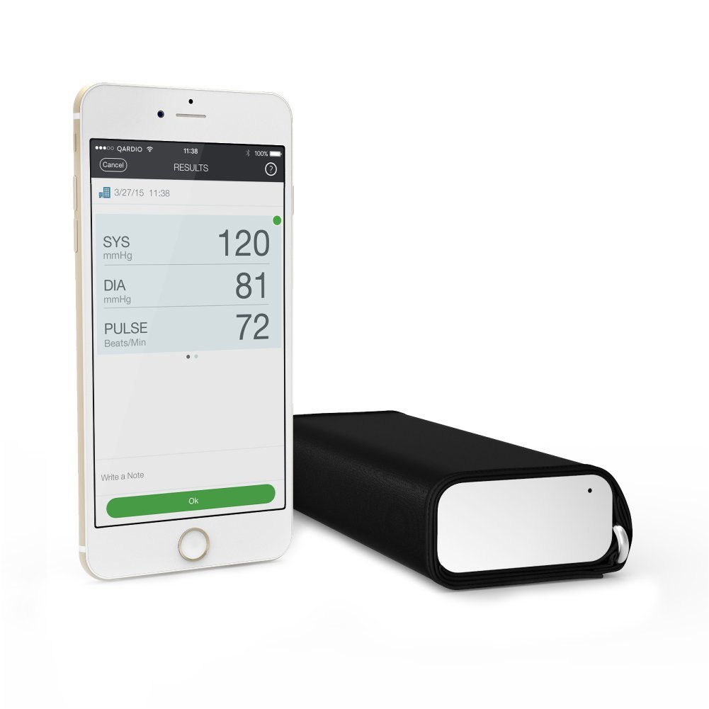 QardioArm Blood Pressure Monitor: Medically Accurate, Easy to Use, Compact  Digital Upper Arm Cuff  App enabled for iOS, Android, Kindle  Syncs with