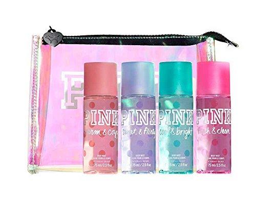 Victoria's Secret PINK Travel Bag 4PCs Body Mist Gift Set 75 ml