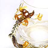 SEMAXE Handmade Glass Cup with Spoon Set and