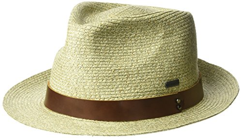 Kangol Men's Waxed Braid Trilby Fedora Hat, Natural, S
