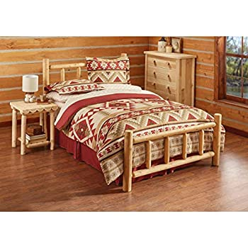 Charmant CASTLECREEK Cedar Log Bed, Queen