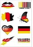 Naisidier Fußball Tätowierungen Flagge Aufkleber [8 Stück] 2018 WM Fußball Fans Deutschland Fahnen Tattoo