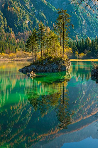 TED POSTER Scenic View Of Lake In Forest Mountains Poster Print 24x 36 ()