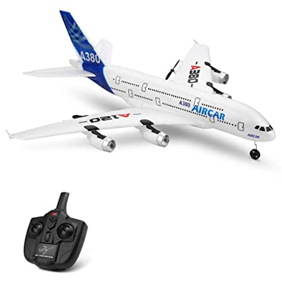 ASfairy-Toy WLtoys A120-A380 2.4GHz 510mm Wingspan 3CH RC Airplane RTF Glider 360° Flip Six Axis Gyroscope Powerful Motor EPP Material Simulation Remote Control Airplane for Kids 14+ Years Old: Toys & Games