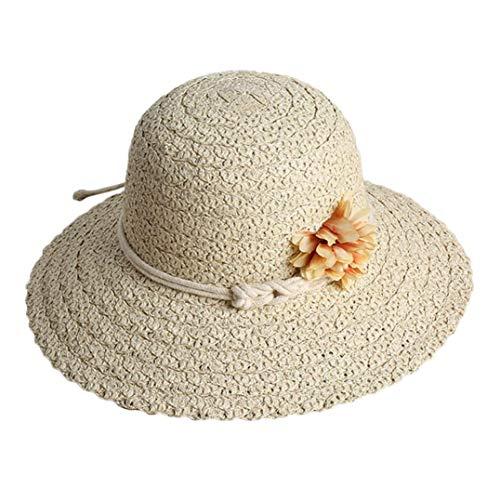 URIBAKE Women Beach Straw Hat Jazz Sunshade Panama Trilby Fedora Hat Gangster Cap - Fur Felt Pork Pie