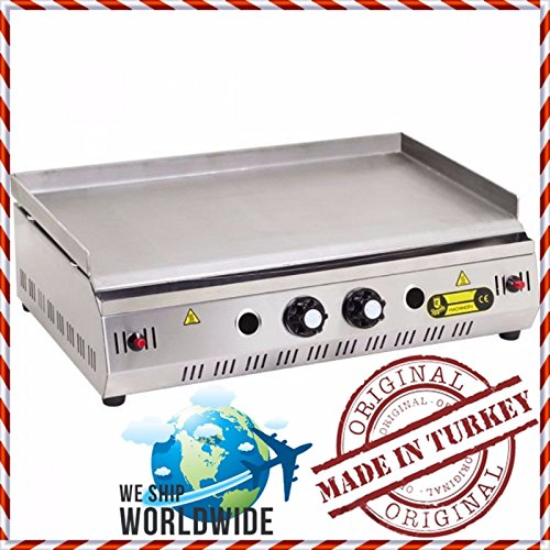 28 '' ( 70 cm ) PROPANE GAS Professional Commercial Kitchen Equipment Countertop Flat Top Grill Restaurant Cafe Home Grill Plate BBQ Cooktop Manual Griddle Propan LPG Countertop Propane Gas Grill