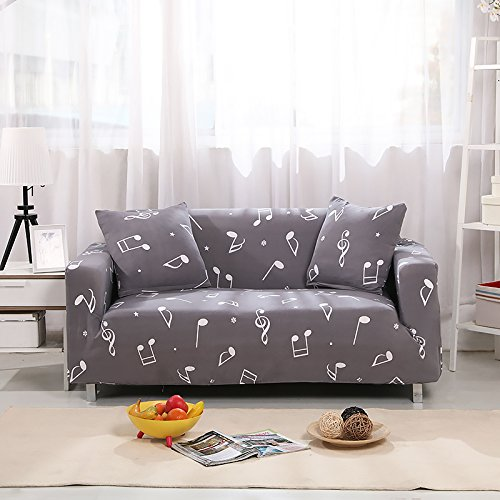 LuDan Stretch Couch Covers Sofa Slipcovers Chair Fitted Loveseat Cover Seat Furniture Protector Available for 1 2 3 4 Four People Sofa Furniture Protector (#12, Sofa Length: 89