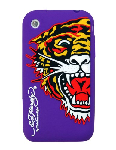 Ed Hardy Silicone Tiger Skin for iPhone 3G - Purple