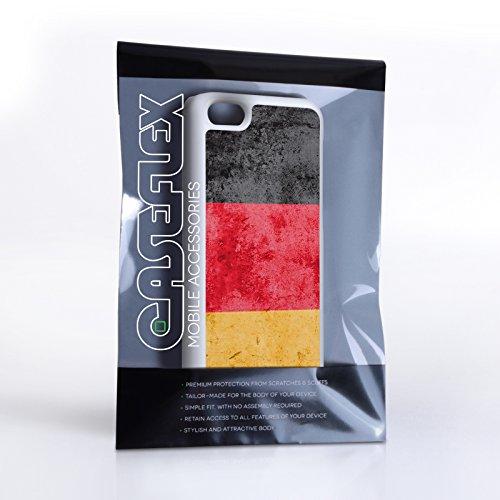 Caseflex iPhone 5C Hülle Retro Deutschland Flagge Hart Schutzhülle