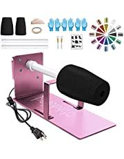 Mookis Cup Turner for Crafts Tumbler, Metal Spinner Machine Kit with Adjustable Tube Holder, Cuptisserie Turner for DIY Epoxy Resin Glitter with Silent Motor Independent Switch Balance Steering Shaft