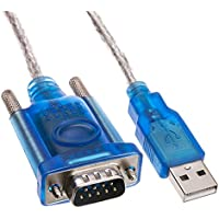 VoojoStore USB to Serial Adapter Cable with DB9 Female to DB25 Male Adapter, USB Type A Male to DB9/DB25 Male, 6 foot
