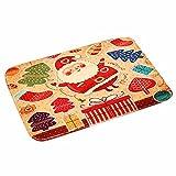 Shmei Portable Christmas Welcome Doormats Indoor Home Carpets Decor Rag Rug Bathmat Room Floor Mat for Bathmat Room,Kitchen,Dining & Bar (A)
