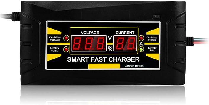 Kkmoon Autobatterie Ladegerät Voll Automatisches Batterieladegerät 150v 250v Bis 12v 6a Smart Schnellladung Für Nasse Trockene Blei Säure Digital Lcd Anzeige Eu Stecker Auto