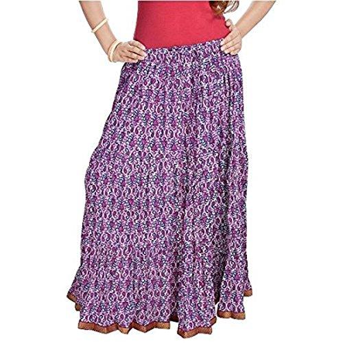 Multi SMSKT563 Pure Floral Multi Skirt Cotton Women XYaSgxqw1
