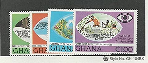 Ghana, Postage Stamp, #592-595 Mint NH, 1976 World Health - 594 Mint