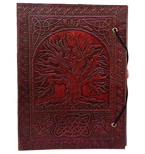 KK's Large Tree Of Life Leather Journal Bound Leather Journal Leather Journal to write in leather journal Embosses leather journals fantasy leather journals notebooks leather journals for men & women