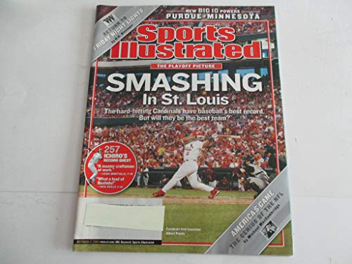 OCTOBER 4, 2004 SPORTS ILLUSTRATED FEATURING ALBERT PUJOLS OF ST. LOUIS CARDINALS *THE PLAYOFF PICTURE* *SMASHING IN ST. LOUIS* *NEW BIG 10 POWERS -PURDUE*MINNESOTA* MAGAZINE