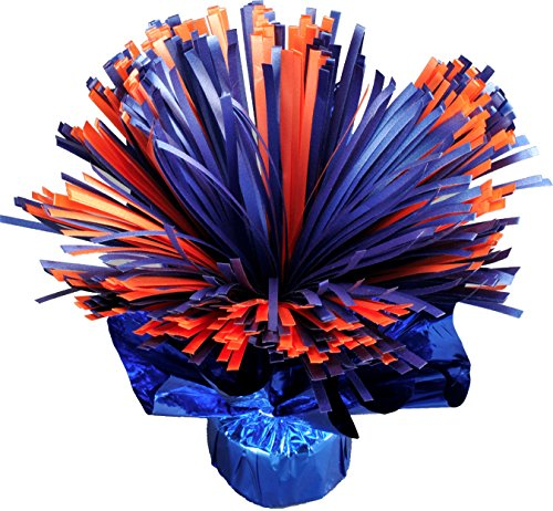 Orange and Blue Shaker Centerpiece Balloon Weight (20
