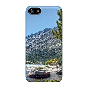 Top Quality Rugged Wonderful Mountain River Hdr Case Cover For Iphone 5/5s