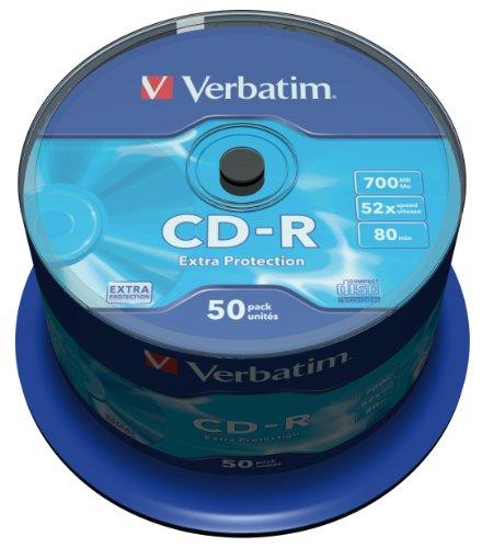 Verbatim 43351  CD-R 52x 50-pack   Optical Media