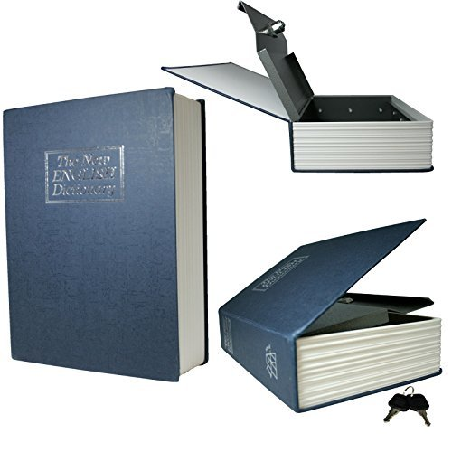 Dictionary Hollow Book Safe Diversion Secret Stash Booksafe Lock & Key Medium