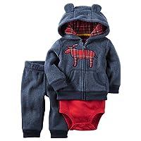 Carter's Baby Boys 3-Piece Moose Hoodie Set 18 Months