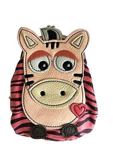 Zebra Purse, niñas rosa negro rayas Monedero, cierre ...
