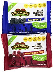 Heartbar Mini Oatmeal Square, Fruit Lovers Variety Pack, 0.89 Ounce (Pack of 30)