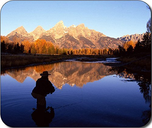 Fly Fishing Scenic Mountain Large Mousepad Mouse Pad Great Gift Idea by MYDply
