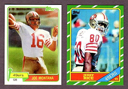 Joe Montana, Jerry Rice Topps Football Reprint Rookie Cards (1981 Montana) (1986 Rice) (San Francisco) ()