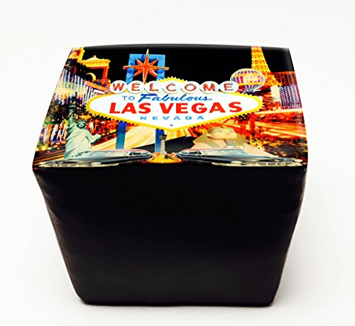 Welcome to Vegas - Tapered Decorative Ottoman